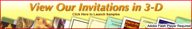 View our invitations in 3-d